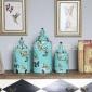 景德镇美式乡村陶瓷装饰罐工艺设计装饰品 客厅书房复古摆件